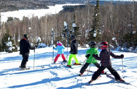 Giants Ridge ski lesson