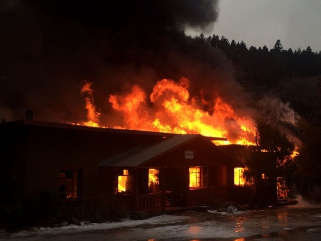 Fire Destroys Sipapu Guest Lodge