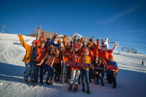 Broncos fans hit the slopes