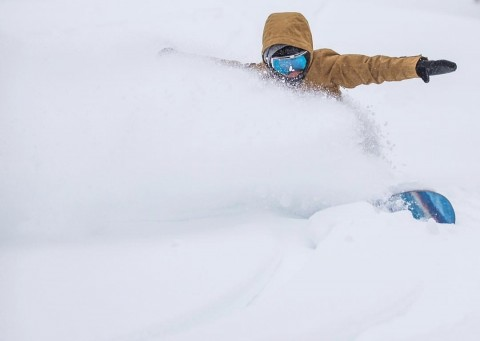 "Mountain Creek, New Jersey powder seekers find 26"" of new snow."