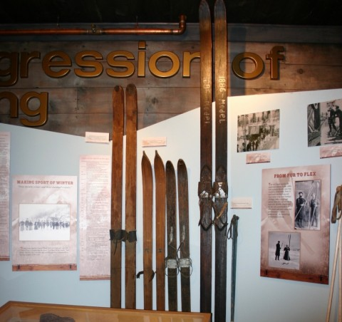 1886 Longboards on display in museum in town of Crested Butte