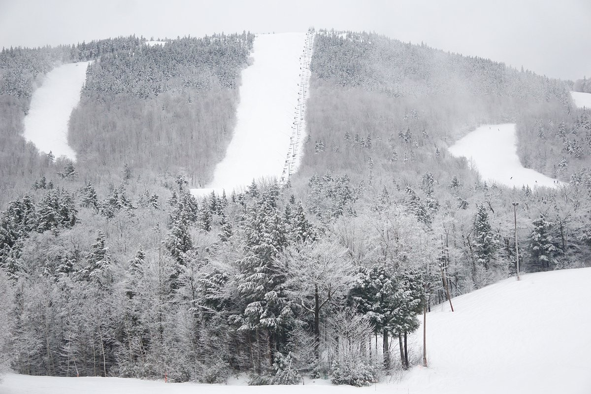 Sunday River season snow total is up to 212 inches.