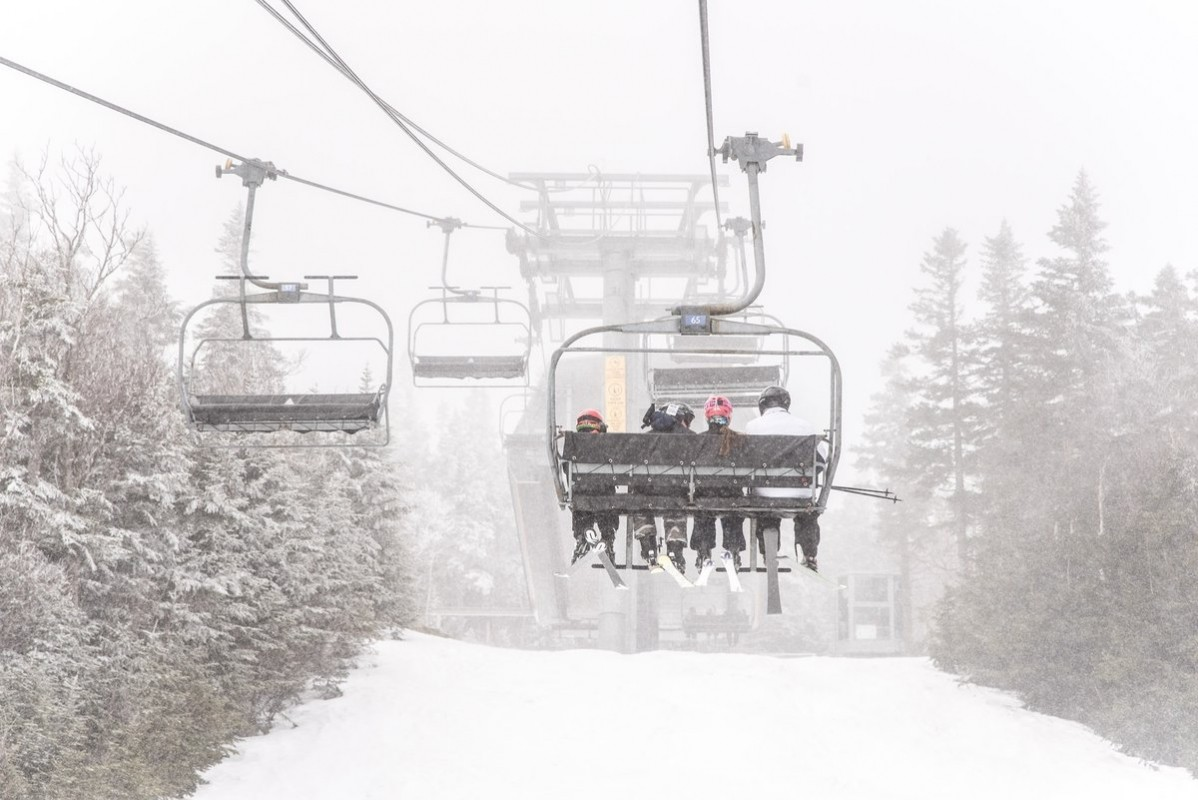Sugarloaf Mountain picks up fresh snow early Wednesday. (Sugarloaf Mountain/Facebook)