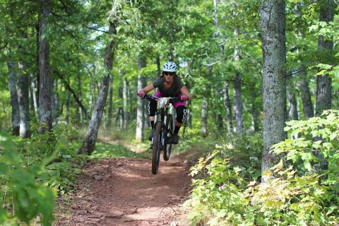 Marquette Mountain offers some great downhill rides.