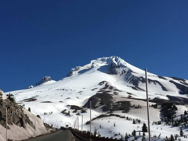 Timberline retains snow in summer