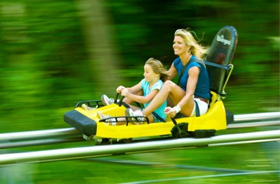 Thrills for everyone on the Jiminy Peak mountain coaster.  (Jiminy Peak)