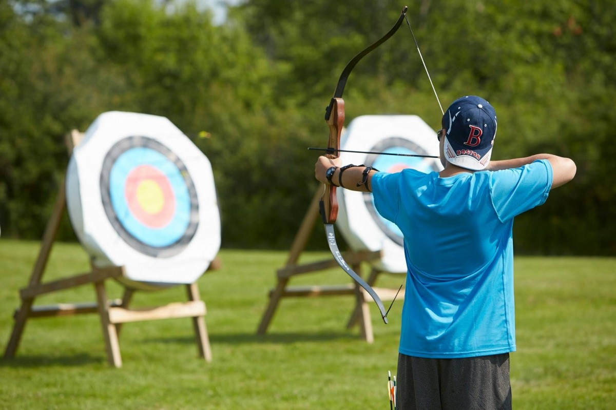 Take aim at Sunday River's archery discovery course. (Sunday River/Facebook)c