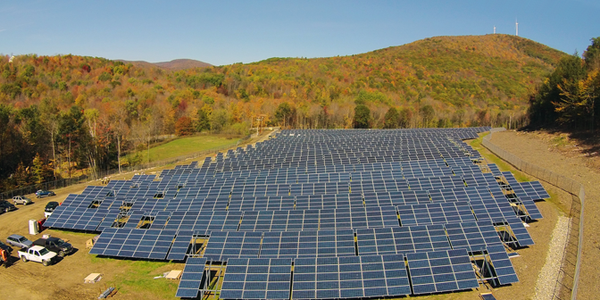 The Nexamp community solar facility located on 12 acres of Jiminy Peak's property. (Jiminy Peak/Facebook)