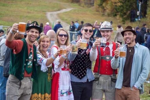 Raising at glass to Germany in Vermont. (The Lodge at Mount Snow)
