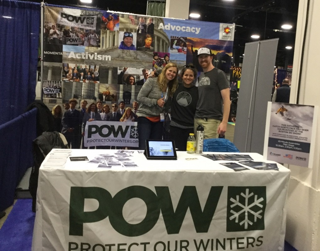 POW booth at a Boston Ski and Snowboard Expo is one way the nonprofit helps to engage the public. (Karen Lorentz)