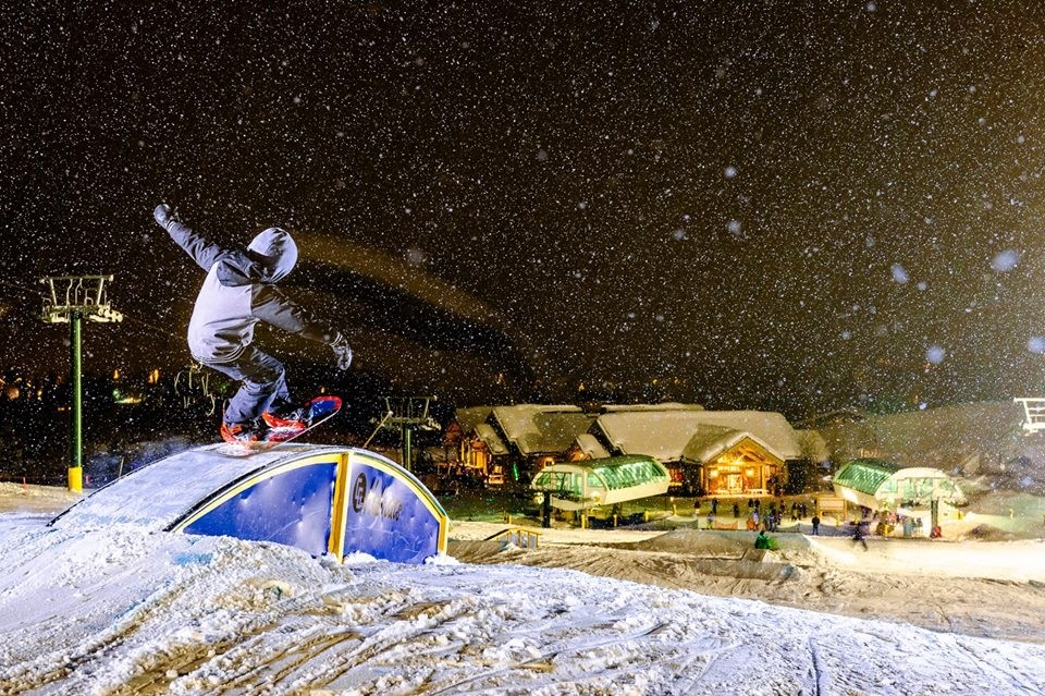 Nighttime at Sun Valley terrain parks. (Sun Valley/Facebook)