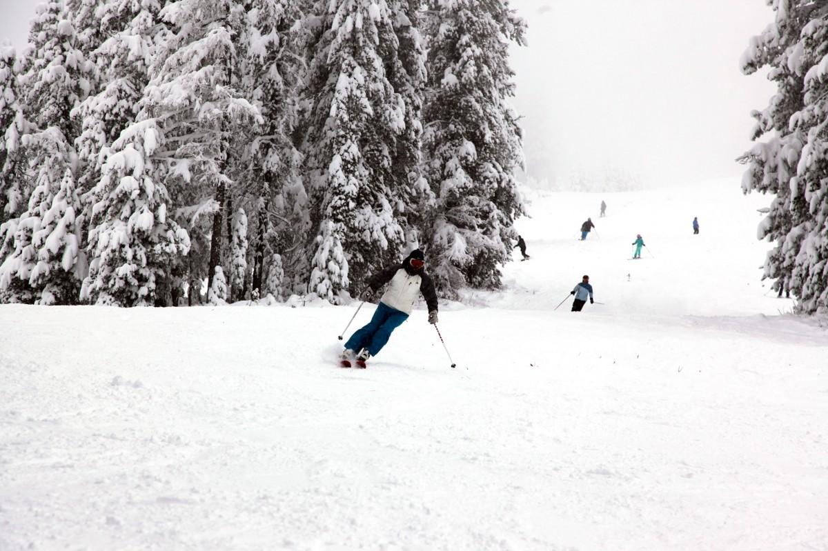 First turns of the season at Lookout Pass. (photo Lookout Pass)