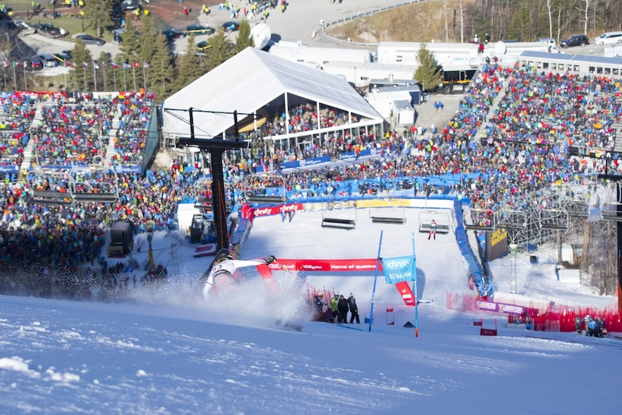 Roaring crowds greet the world's top women racers at Killington. (Killington)