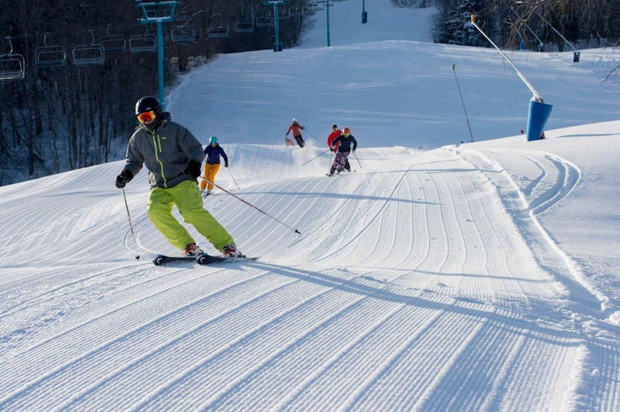 New groomers make for nice corduroy on Sunrise at Holiday Valley. (Holiday Valley)