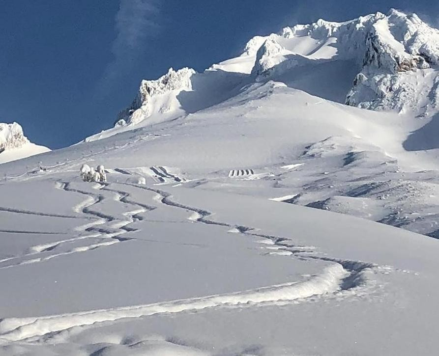 Snow, snow and more snow on flanks of Mt. Hood. (Timberline Lodge/Facebook)
