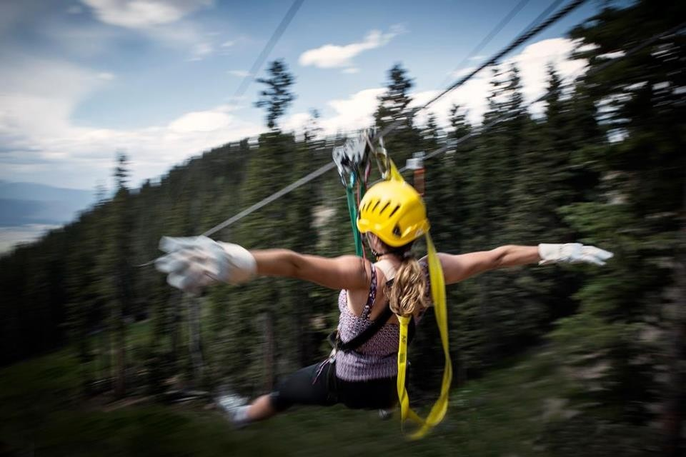Ziplines criss-cross the mountains of the West. (Angel Fire/Facebook)