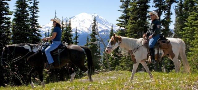 Crystal Mountain trail ride