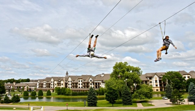 Boyne Mountain zip line