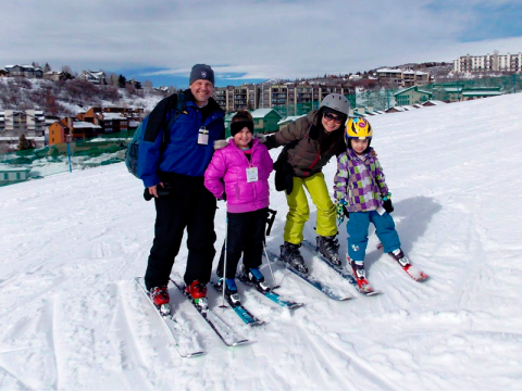 Special instruction during January aims to make skiing a family sport