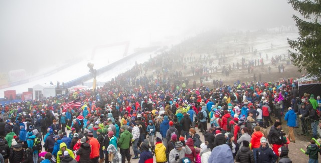 Huge Crowd Greets World Cup At Killington Resort