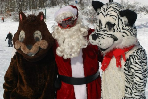 Crystal Mountain Santa and friends