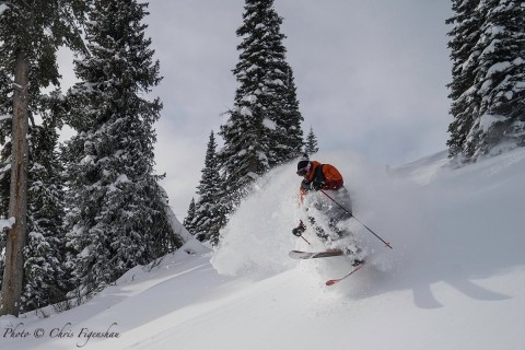 Always plenty of legendary light Northern Rockies powder at Jackson Hole