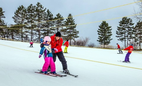 Apple Mountain ski lesson