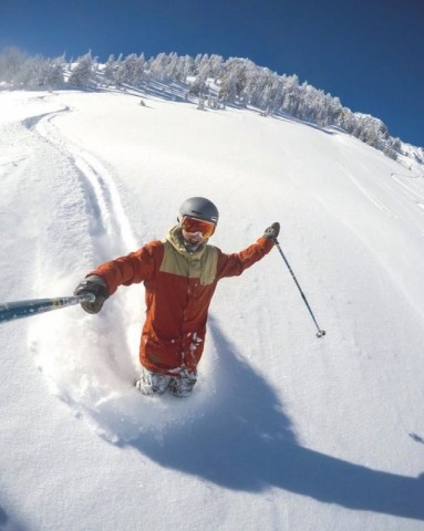 Thigh-deep in powder Mammoth
