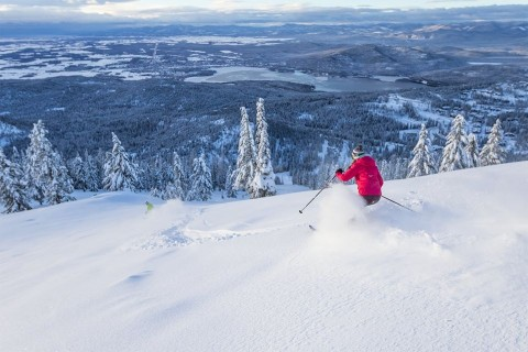 Plenty of snow left on the Whitefish slopes.