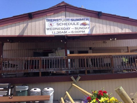 The front of the Bierstube will look completely different next season.