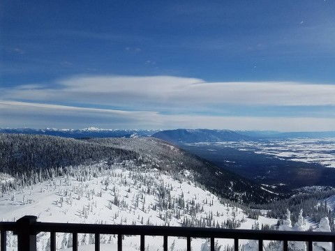 The view from the Summit House of the Flathead Valley. It was remodeled last year.
