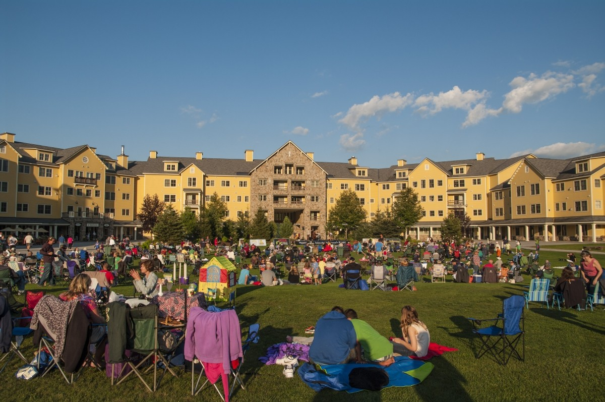 Okemo's summer music festival welcomes families to the Jackson Gore courtyard. (Okemo)c
