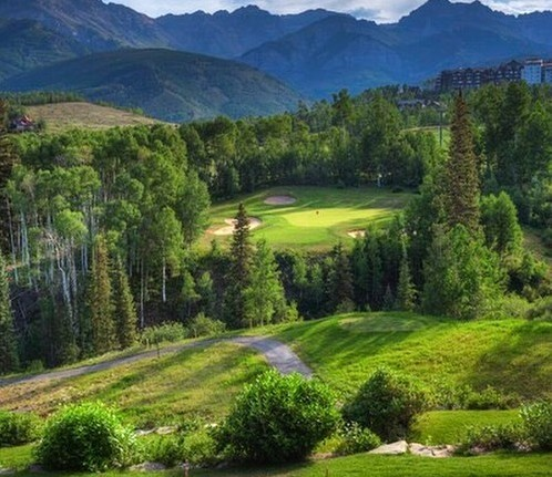Views come with the greens fees at Telluride (Telluride Resort/Facebook)