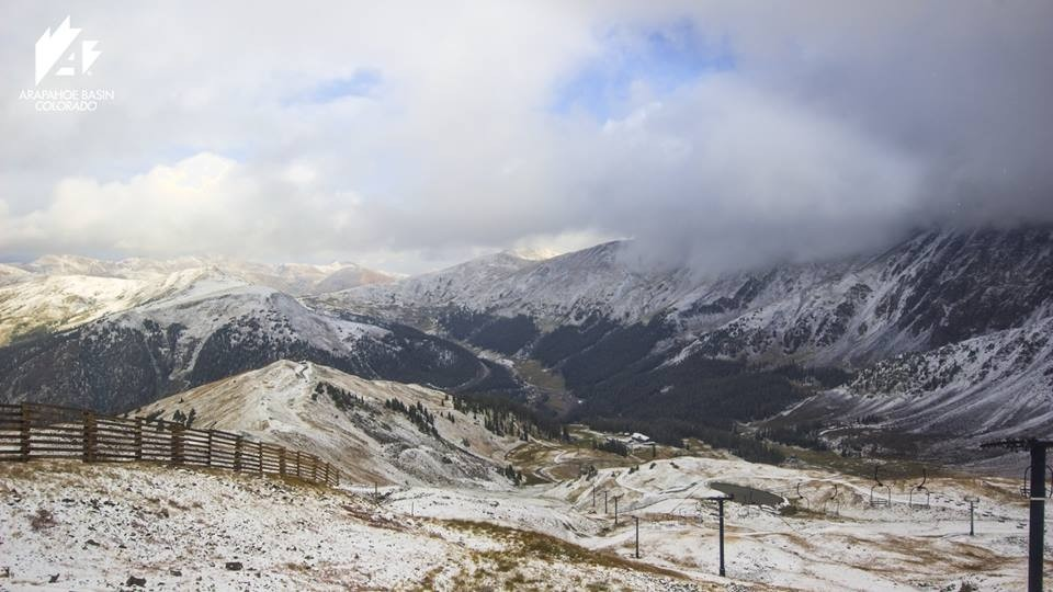 Top of Arapaho Basin welcomes winter (Arapahoe Basin/Facebook)