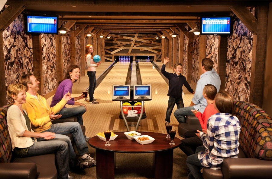 Your own bowling alley after a day on the slopes. (One Ski Hill Place)