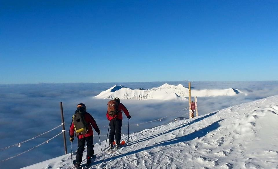 Skiing above the clouds at Big Sky (Big Sky Facebook)