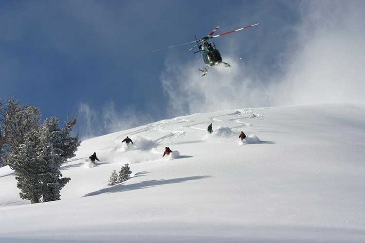 Miles of freshies near Jackson Hole. (High Mountain Heli Skiing/Facebook)