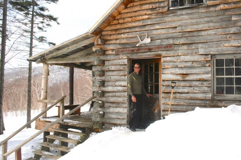 Sam von Trapp at the Slayton Pasture Cabin. (Trapp Family Lodge)
