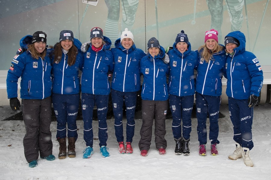 The U.S. Ski & Snowboard women's cross-country team. (Sarah Brunson/U.S. Ski & Snowboard)