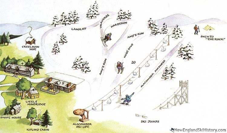 Maybe the first trail map, for Easton Ski Area. (New England Ski History)