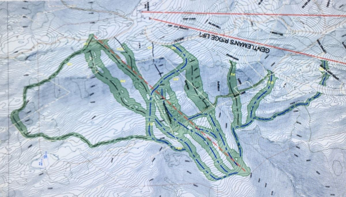Proposed chair to sit below summit, where Silver Queen and Ajax Express unload. (Aspen-Snowmass)