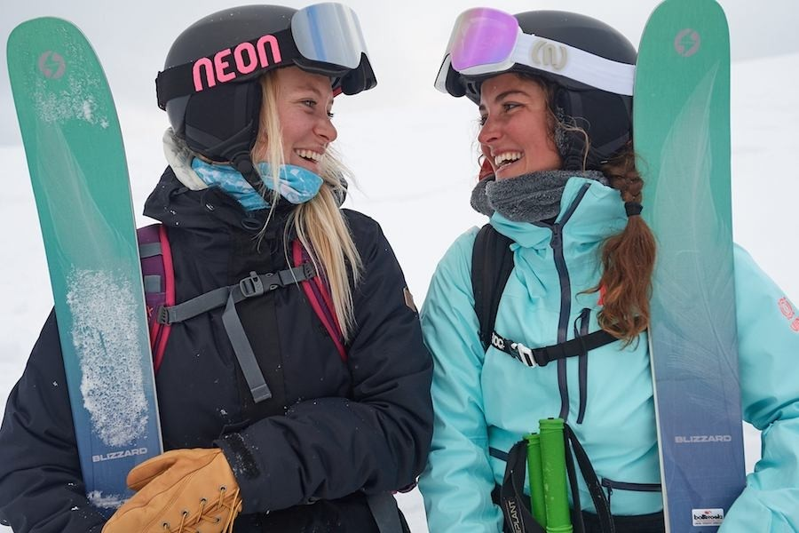 The women's line is so fun you can't help but smile. (Blizzard Ski/Facebook/Paolo-Sartori)