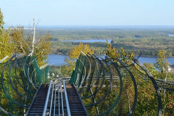 Spirit Mountain's Timber Flyer offers great views of Duluth's Lake Superior harbor. (Spirit Mountain)
