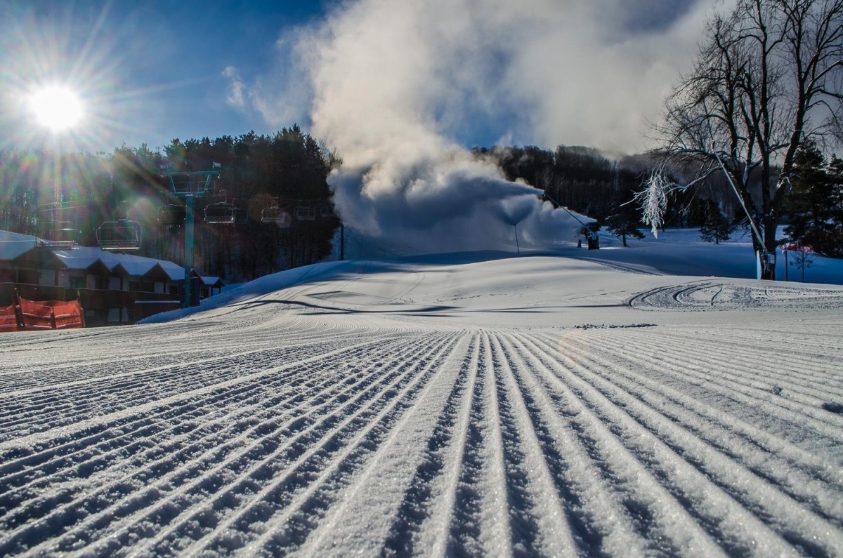 Snowmaking at Holiday Valley. (Holiday Valley)