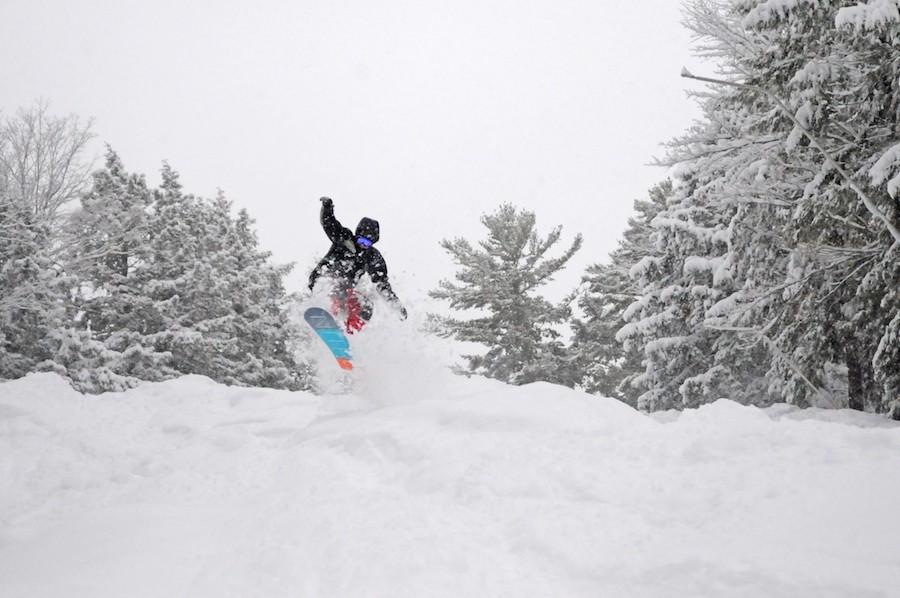 King Pine also reaped the benefits of a favorable storm pattern in March. (Ski NH/King Pine)