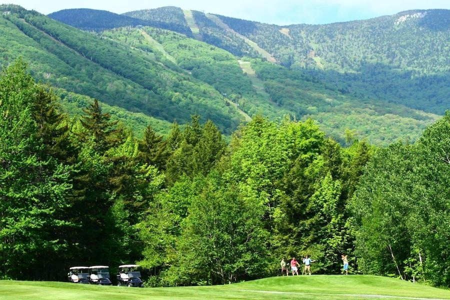 The Sugarbush Resort Golf Club has a picturesque background during the summer and fall seasons. (Sugarbush/Ski Vermont)