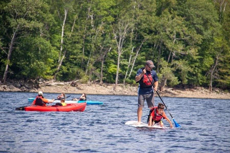 Family camps at Mount Snow feature many water activities.