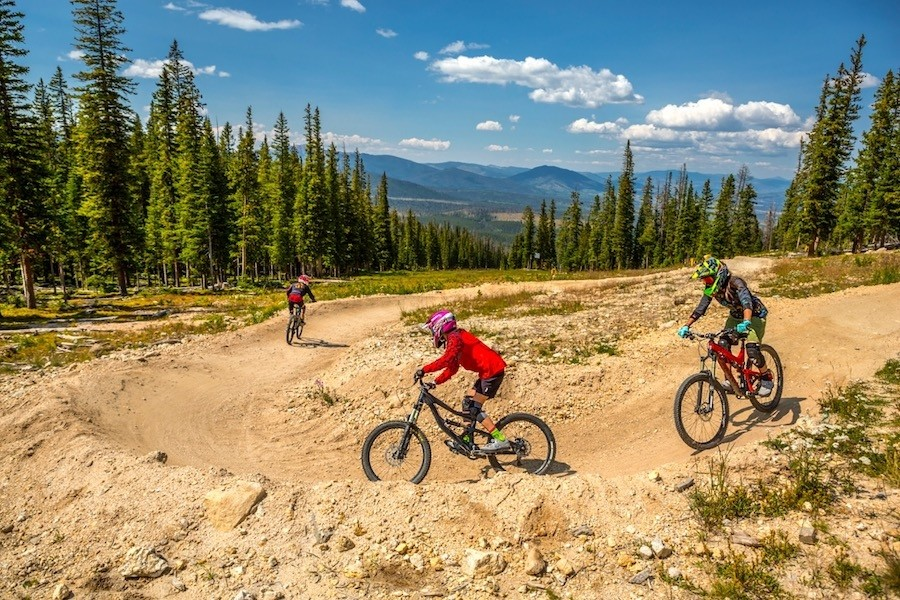 Winter Park Resort's Trestle Bike Park offers spectacular riding. (Chris Wellhausen)