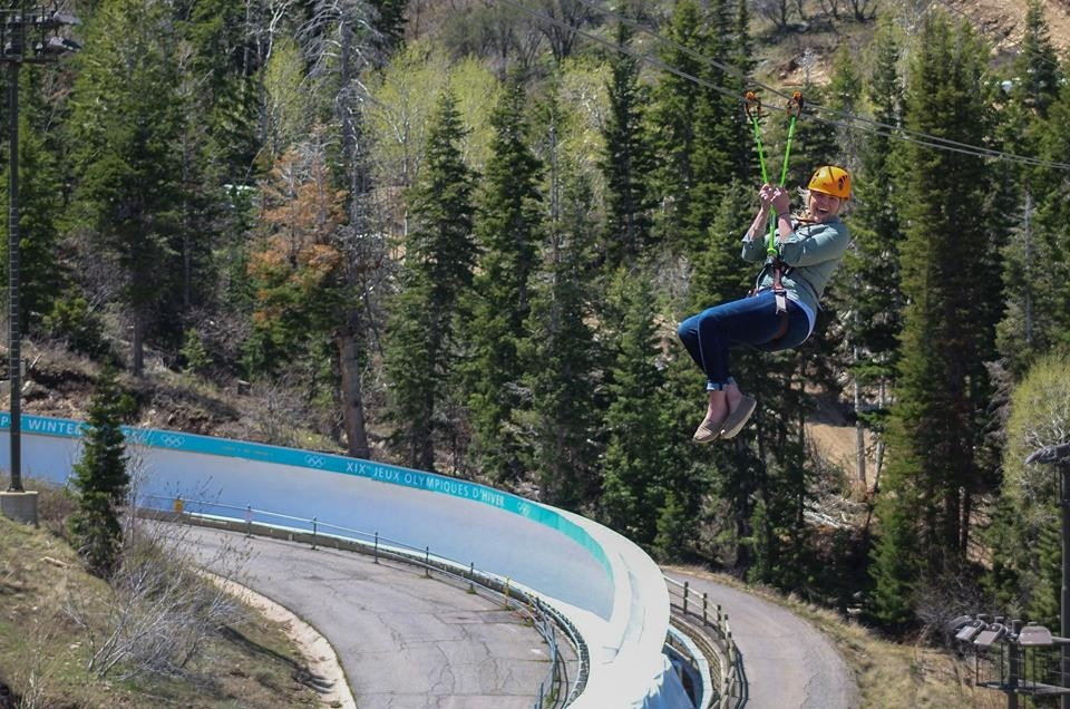 One of steepest ziplines in the world. (Utah Olympic Park/Facebook)