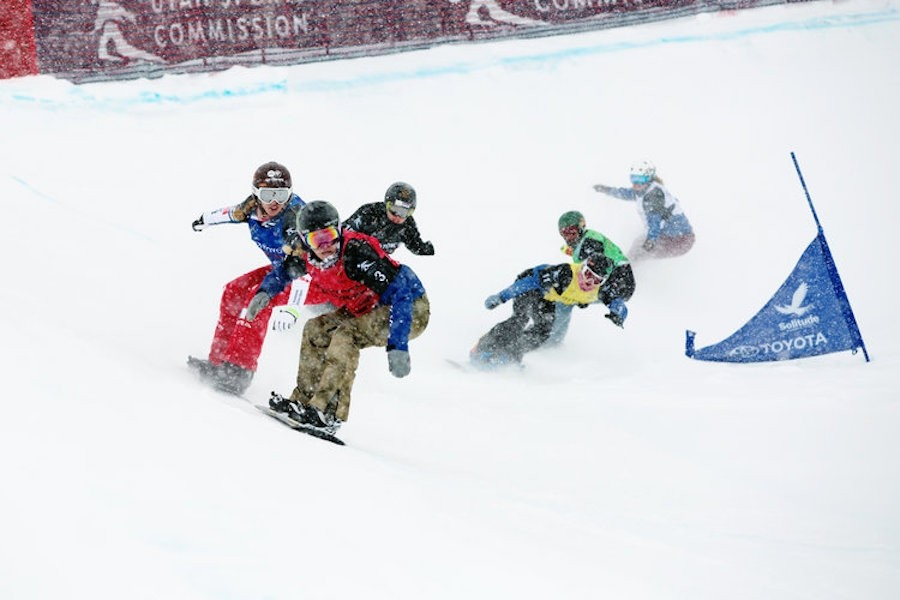 Snowboardcross racers use speed and skill to make it over cambered turns, jumps, berms, rollers, drops. (2019worldchamps.com)